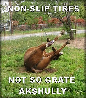Non slip tires